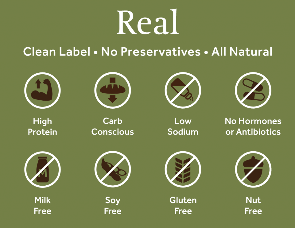 Real | Clean Label • No Preservatives • All Natural