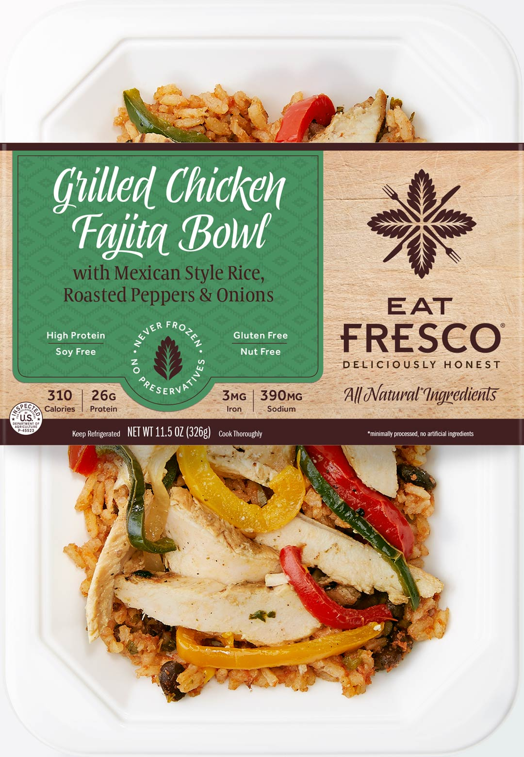 Eat Fresco - Entree - Dinner - Grilled Chicken Fajita Bowl
