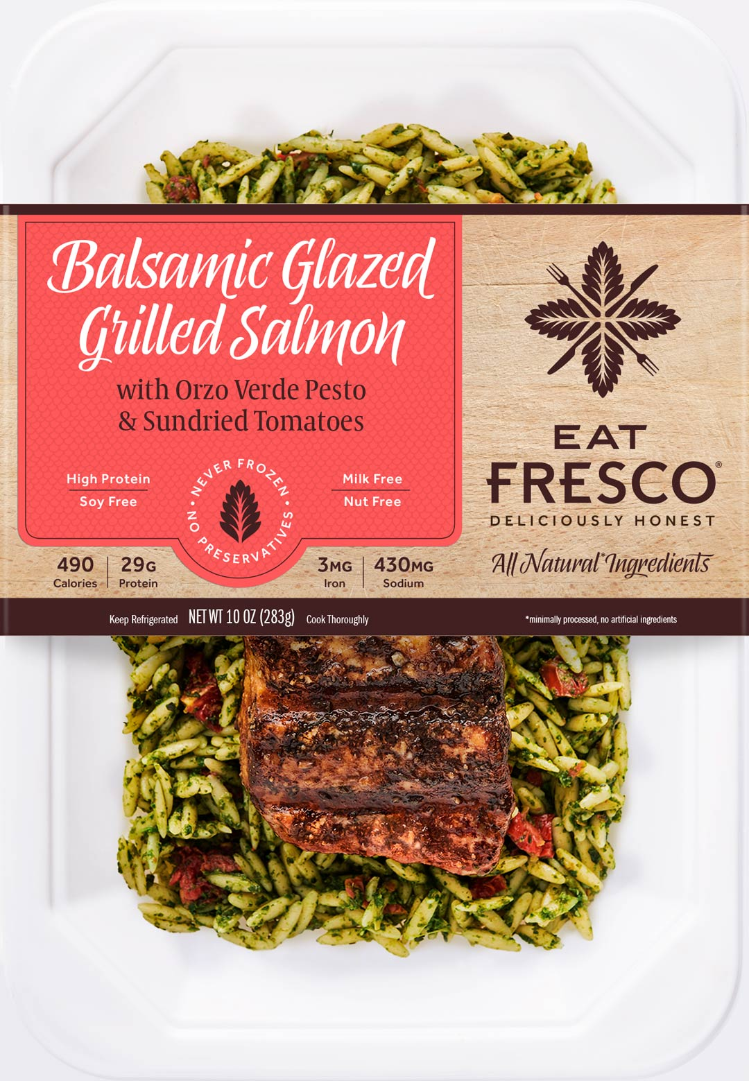 Eat Fresco - Entree - Dinner - Balsamic Glazed Grilled Salmon