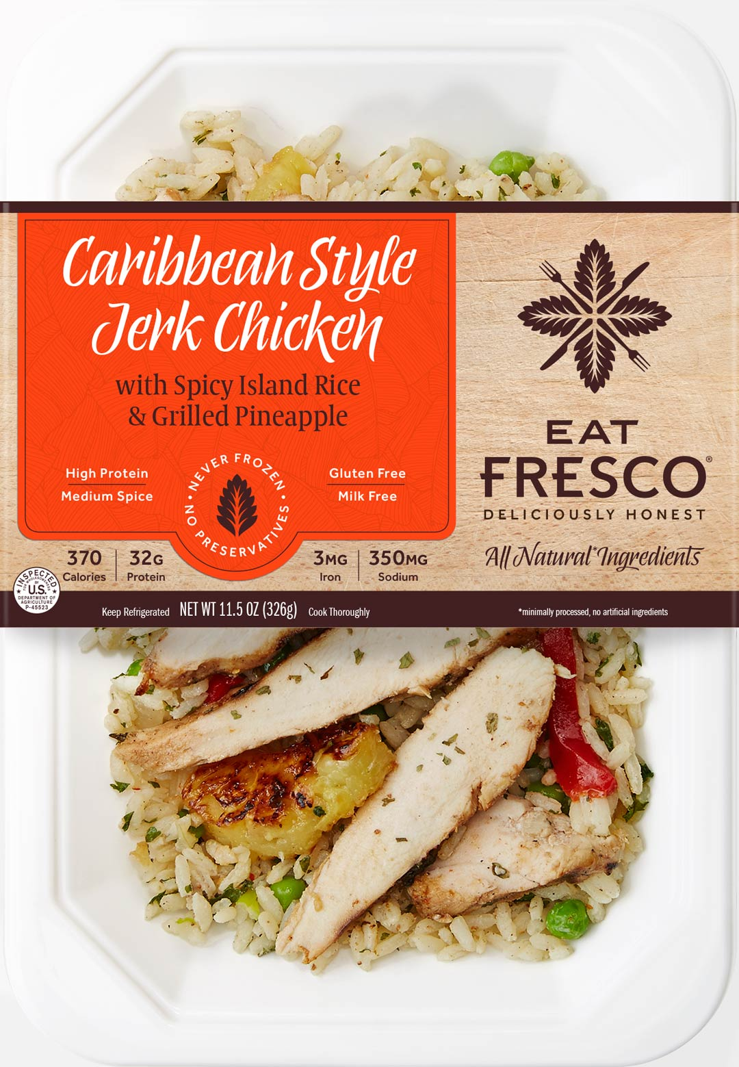 Eat Fresco - Entree - Dinner - Caribbean Style Jerk Chicken
