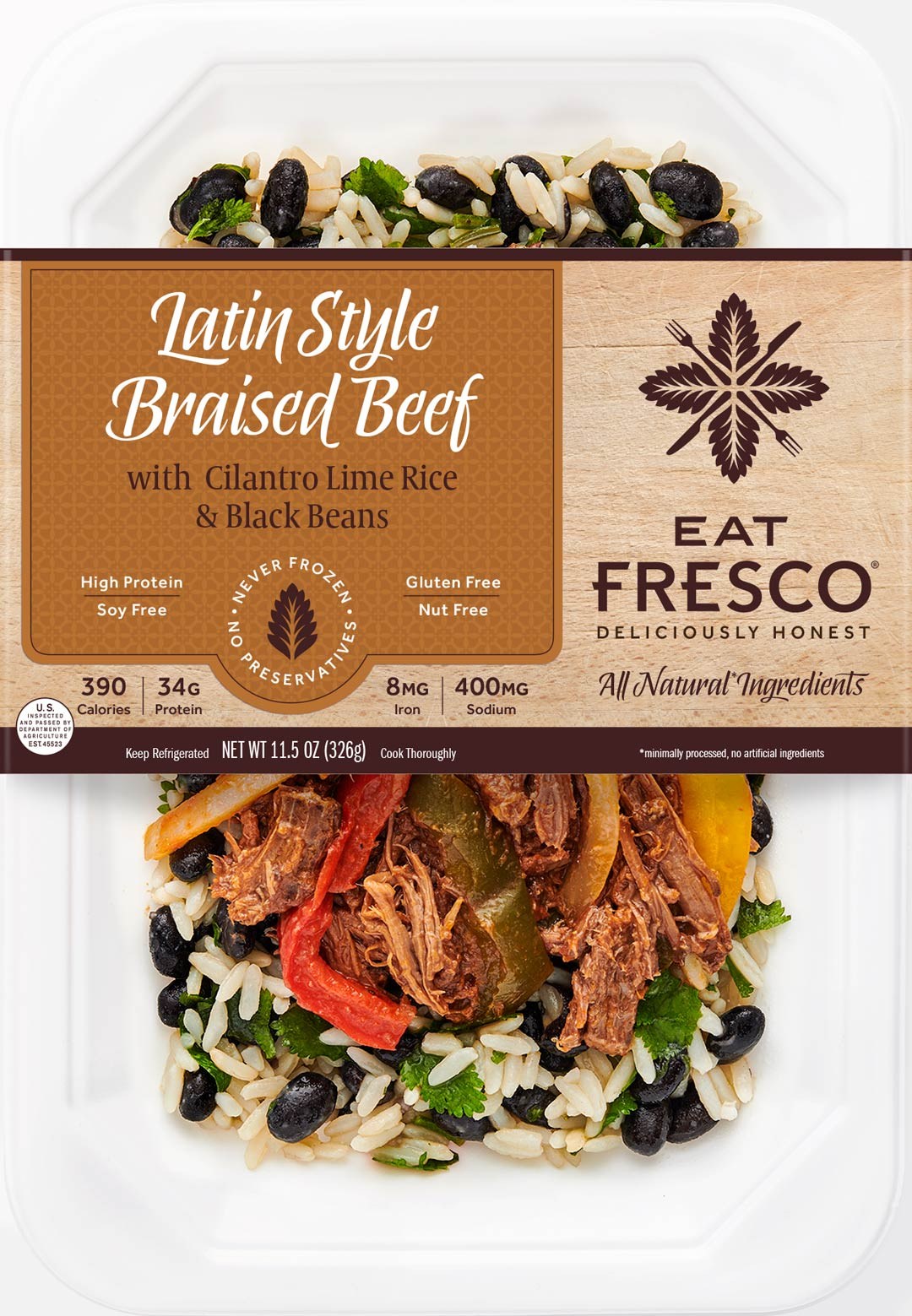 Eat Fresco - Entree - Dinner - Latin Style Braised Beef