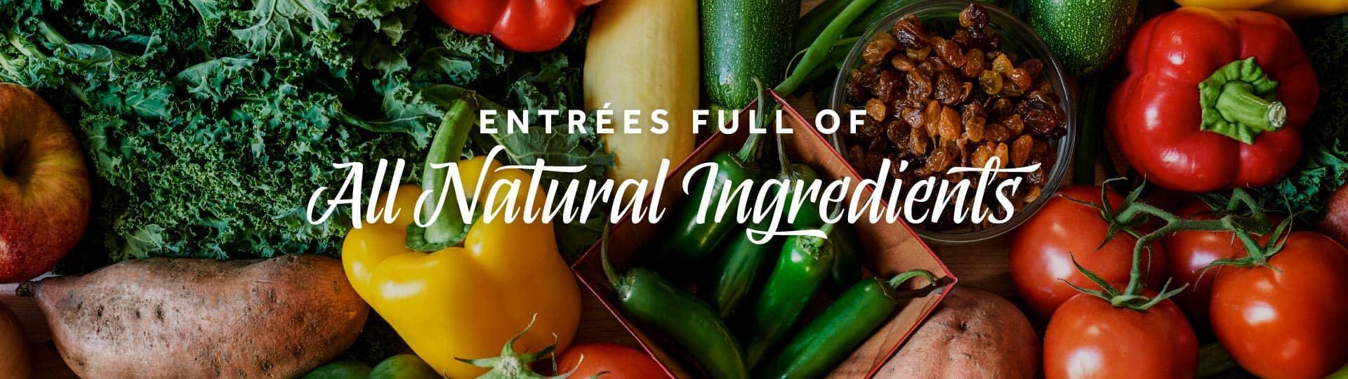 Entrées Full of All Natural Ingredients