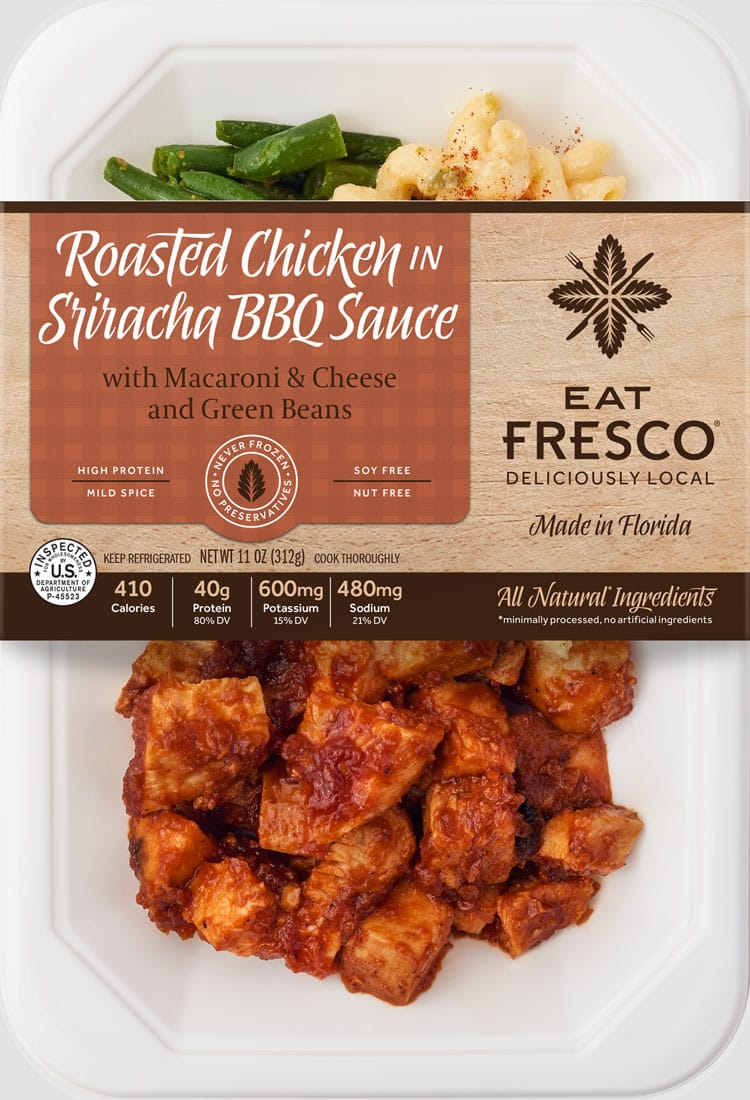 Roasted Chicken in Sriracha BBQ Sauce