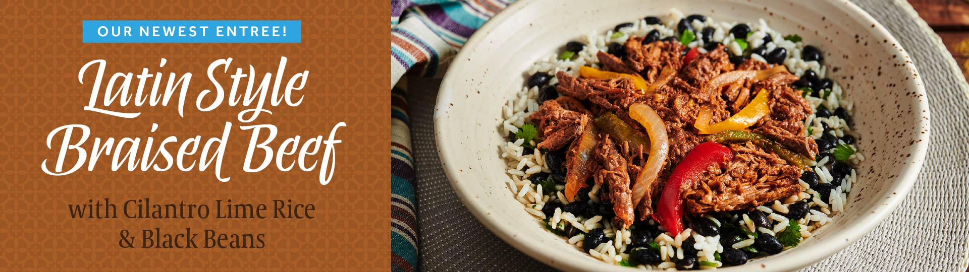 Eat Fresco - Latin Style Braised Beef - with Cilantro Lime Rice & Black Beans