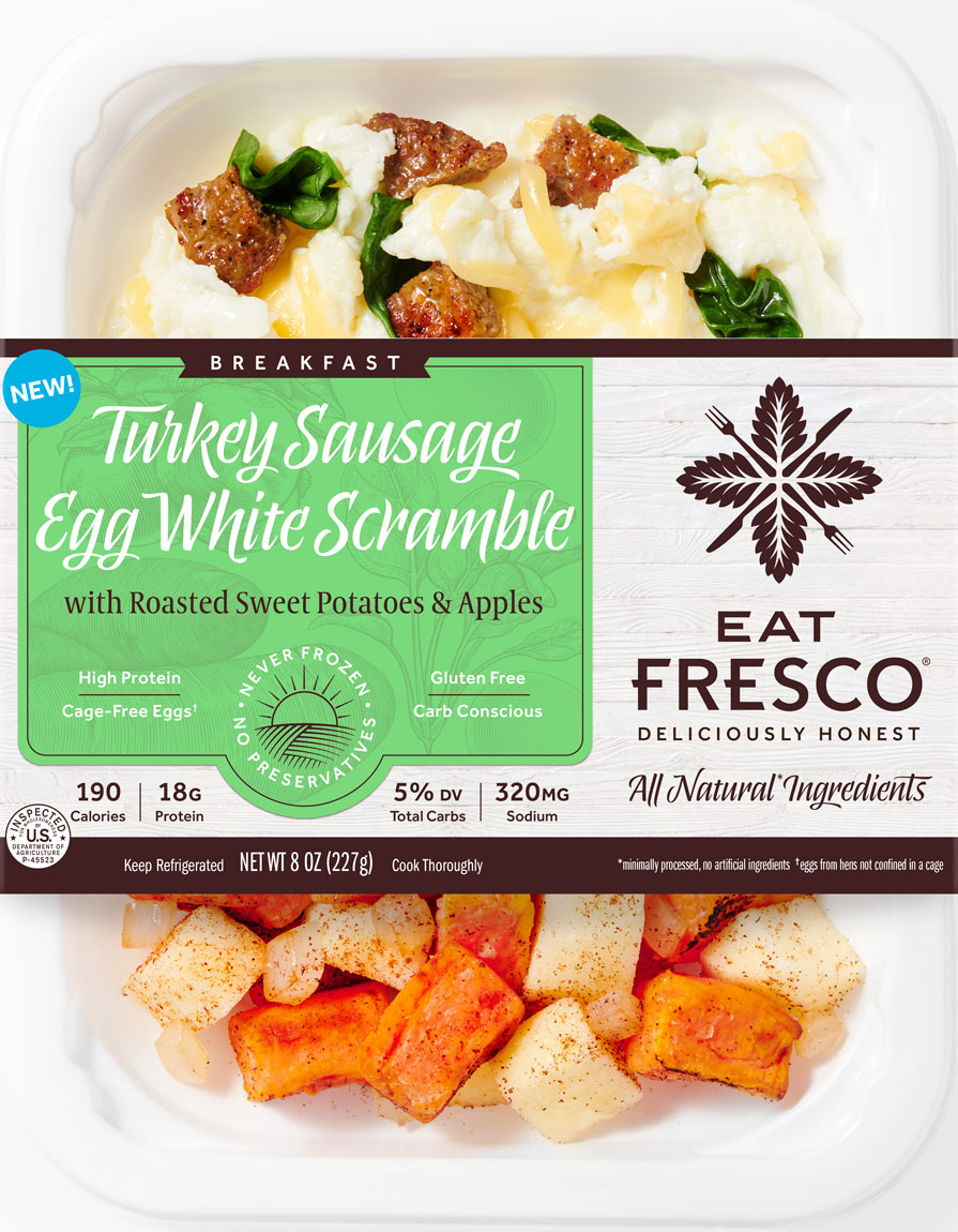 Turkey Sausage Egg White Scramble