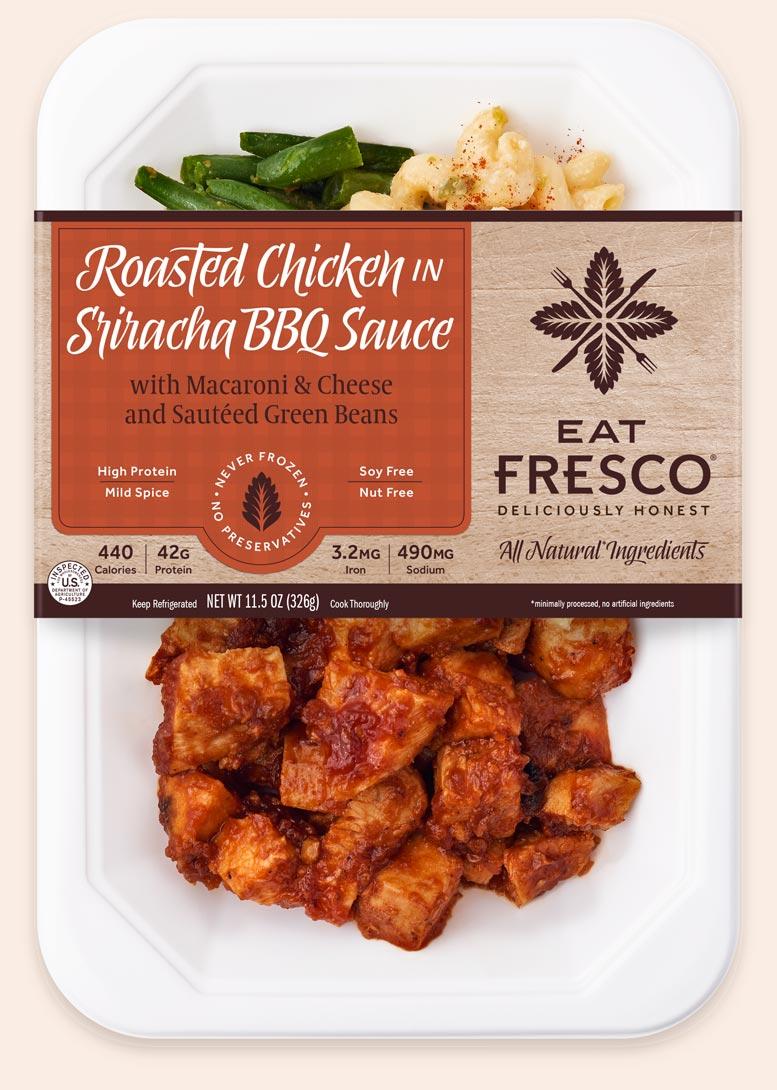 Roasted Chicken in Sriracha BBQ Sauce - Eat Fresco