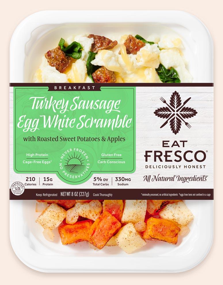 Turkey Sausage Egg White Scramble - Eat Fresco