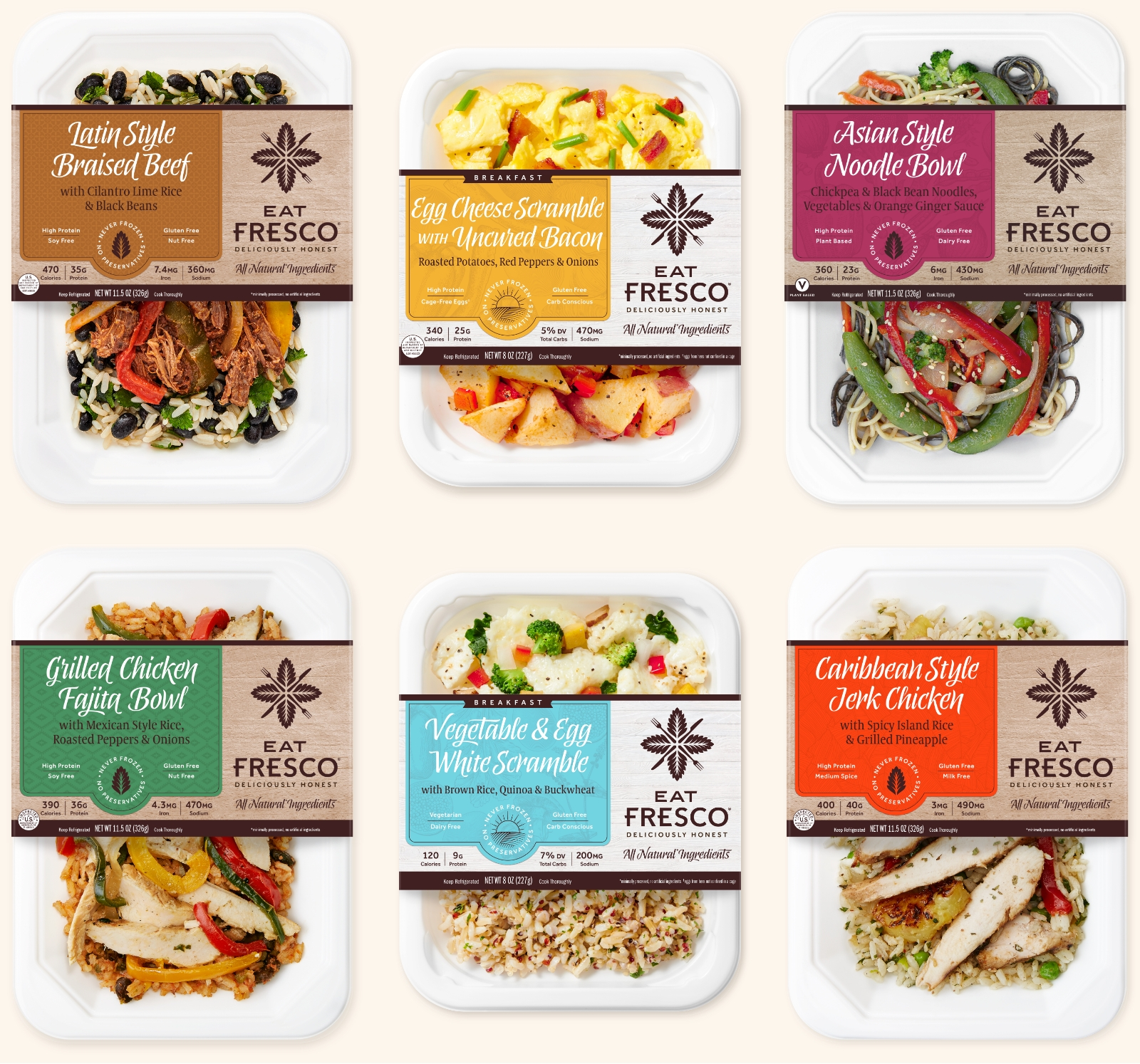 12 Eat Fresco breakfasts, lunches, and dinners to choose from.